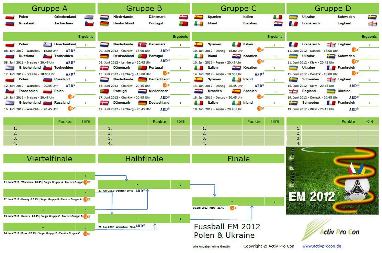 Em 2012 Spielplan
